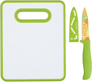 Tabla de Cortar y Cuchillo Multicolor - KitchenCraft