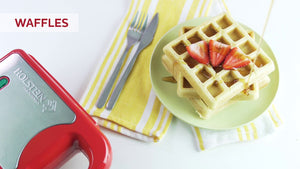 Mini Plancha Multi Maker para Waffles, Paninis y Panqueques Holstein