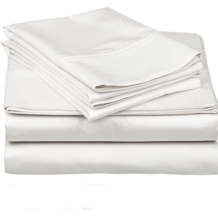 Set de Sabanas Twin Blanco 600 Hilos - Royal Heritage
