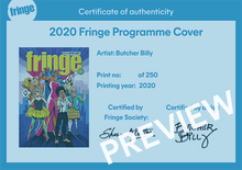 Load image into Gallery viewer, 2020 Fringe Programme print (limited edition)
