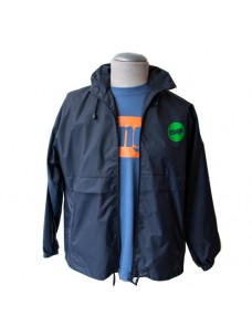 Logo packable rain jacket