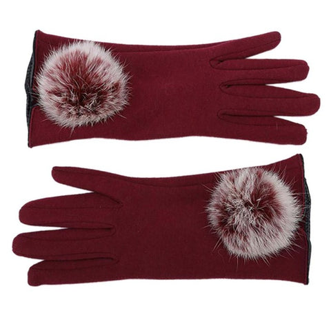 Touch Screen Handschuhe Thermal Warm Cotton Plush Lace