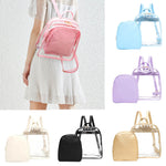 2019 NEW cute Clear Plastic See Through Transparent Backpack women girl student travel Bag satchel School Book bag Aug16