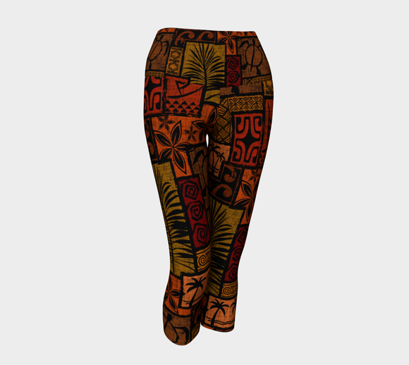 the-madtropic - Moku Malihini Black Capri - Art of Where - Yoga Capris