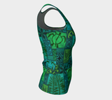 the-madtropic - Moku Malihini Fitted Tank Top Long - Art of Where - Fitted Tank Top (Long)