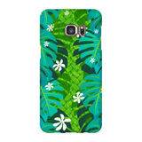 Monstera Tiare Weave on green - The Mad Tropic