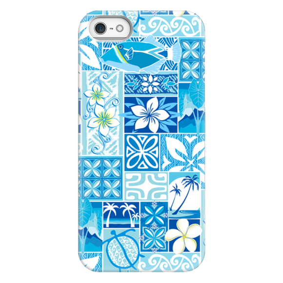 Blue Hawaiian Motif