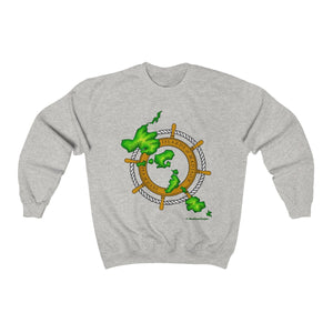 Island Wheel Unisex Heavy Blend™ Crewneck Sweatshirt - The Mad Tropic