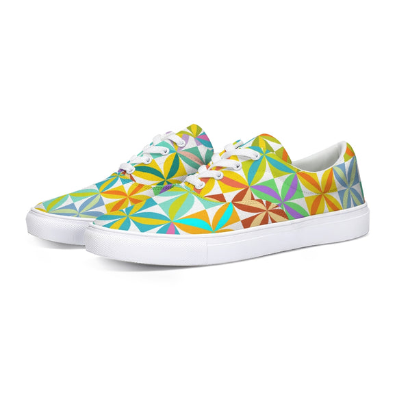 Beach Blanket Lace Up Canvas Shoe