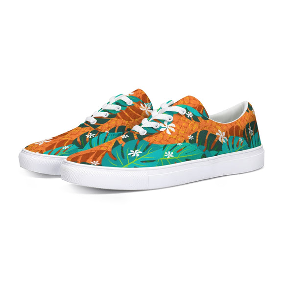 Monstera Tiare Weave Lace Up Canvas Shoe