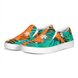 Monstera Tiare Weave Slip-On Canvas Shoe - The Mad Tropic
