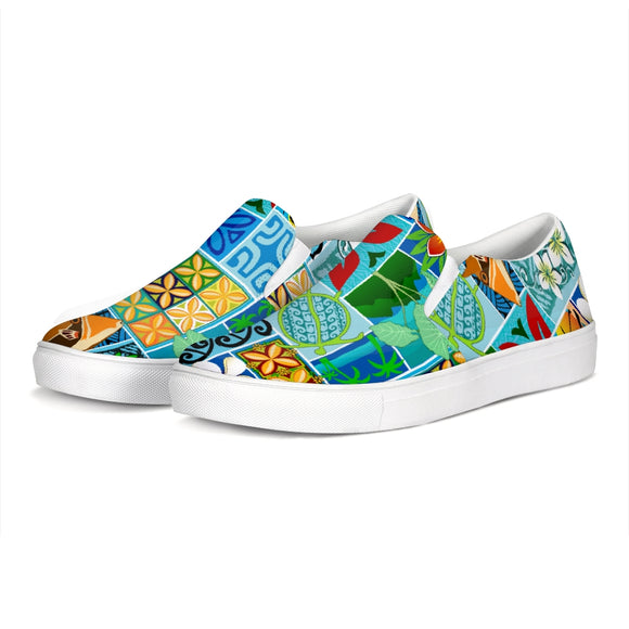 New Hawaiian Motif 20in Slip-On Canvas Shoe - The Mad Tropic