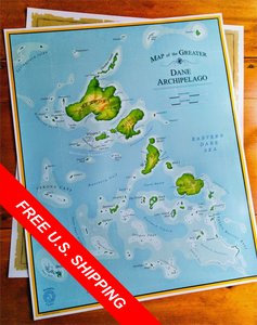 Map of the Dane Archipelago - The Mad Tropic