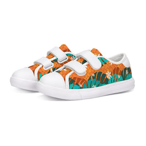 Monstera Tiare Weave Kids Velcro Sneaker - The Mad Tropic