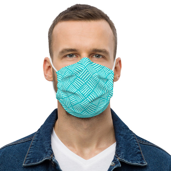 Turquoise Surf Weave Premium face mask