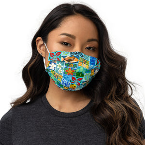 New Hawaiian Motif Premium face mask