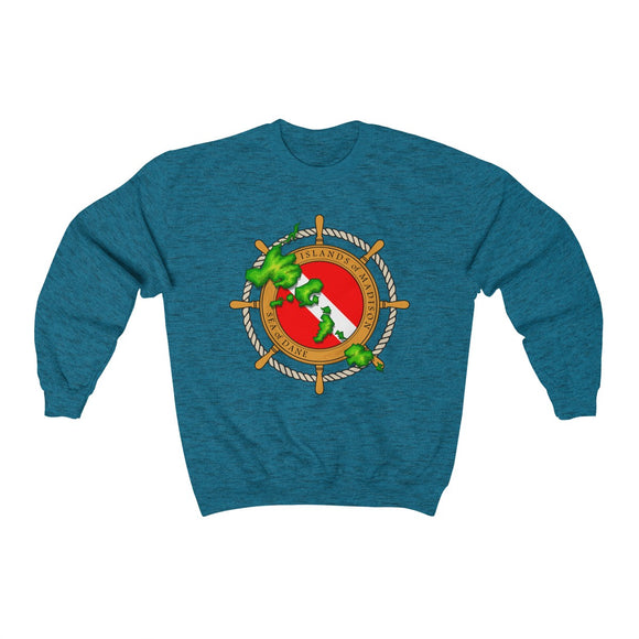 MadisonTropic Diver Unisex Heavy Blend™ Crewneck Sweatshirt - The Mad Tropic