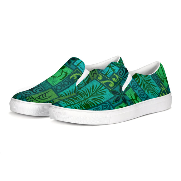 Moku Malihini on Blue Slip-On Canvas Shoe - The Mad Tropic