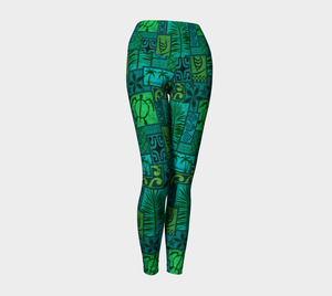 the-madtropic - Moku Malihini Yoga Leggings - Art of Where - Yoga Leggings