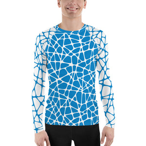 Webxotic Blue Men's Rash Guard - The Mad Tropic