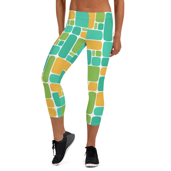 Linoleum 1 Capri Leggings - The Mad Tropic