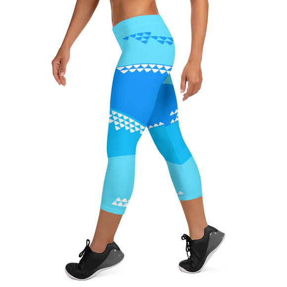 Tropic Shallows Capri Leggings - The Mad Tropic
