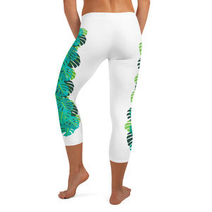 MadTropic Monstera Capri Leggings - The Mad Tropic