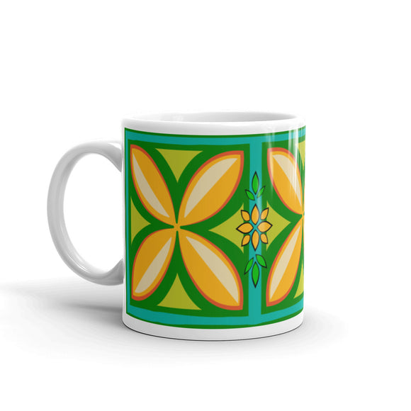 Kapuna Aloha green Mug - The Mad Tropic