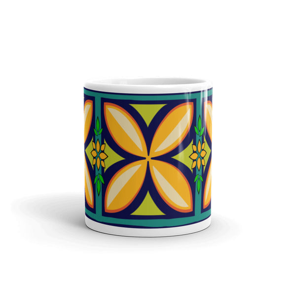 Kapuna Aloha navy Mug - The Mad Tropic