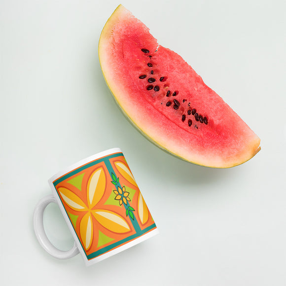 Kapuna Aloha orange Mug - The Mad Tropic