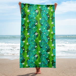 Monstera Tiare Weave Towel - The Mad Tropic