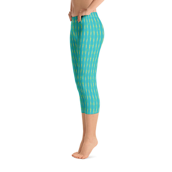 Bamboo Tropicana Capri Leggings - The Mad Tropic