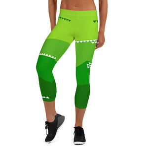 Green Mountain Capri Leggings - The Mad Tropic