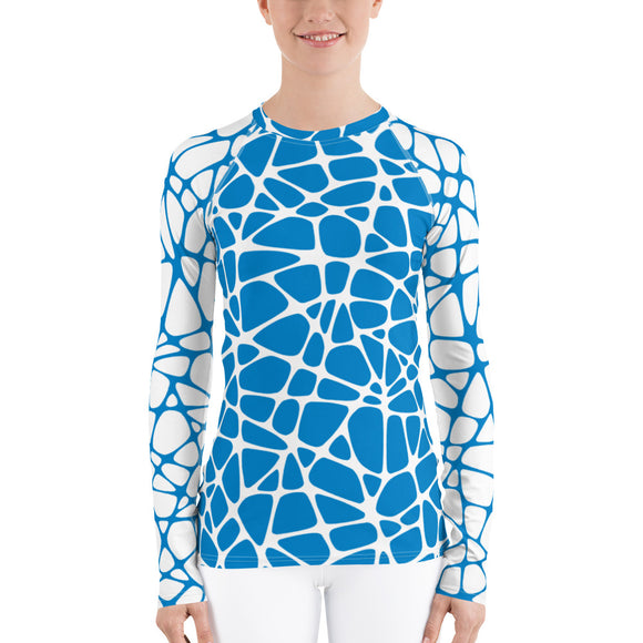 Webxotic Blue Women's Rash Guard - The Mad Tropic