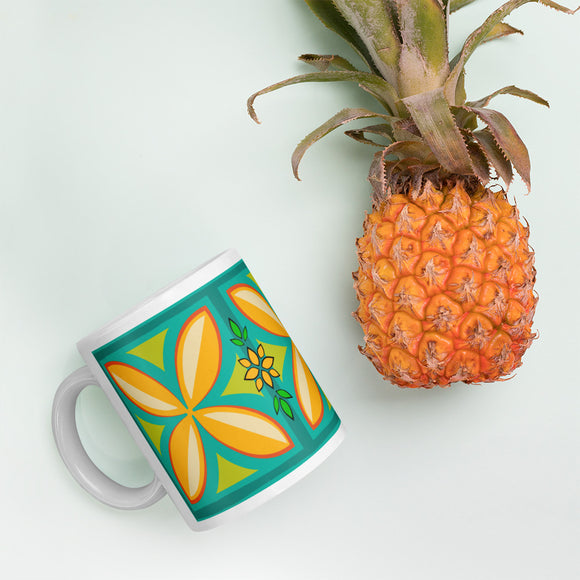 Kapuna Aloha teal Mug - The Mad Tropic