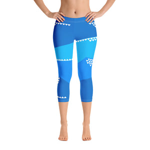 Deep Waters Capri Leggings - The Mad Tropic
