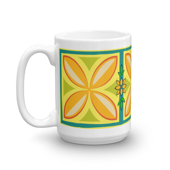 Kapuna Aloha yellow Mug - The Mad Tropic
