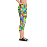 Carnival Harlequin Capri Leggings - The Mad Tropic