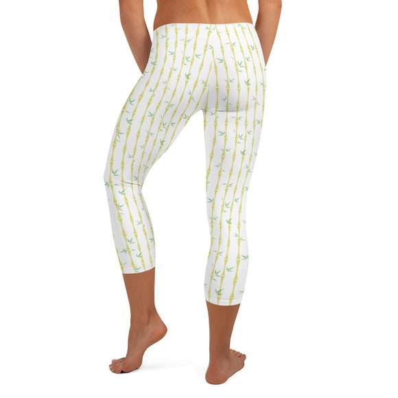 Bamboo Snow Capri Leggings - The Mad Tropic