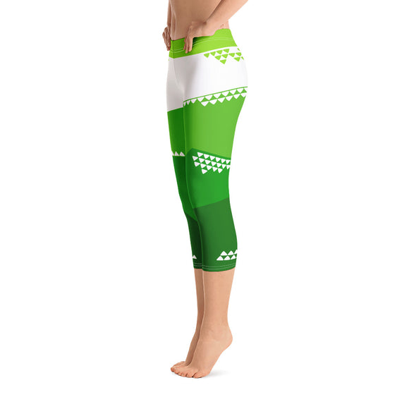 Morning Mau'u Capri Leggings - The Mad Tropic