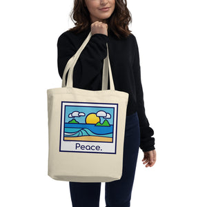 "Tropic Glass ""Peace"" Eco Tote Bag - The Mad Tropic"