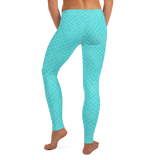 Horizontal Weave Turquoise Leggings - The Mad Tropic