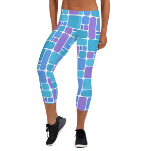 Linoleum 2 Capri Leggings - The Mad Tropic