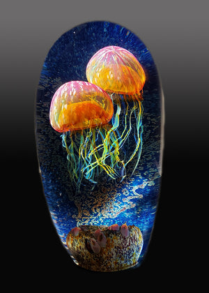 Double Gold Ruby Seascape Jellyfish