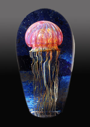 Gold Ruby Jellyfish Seascape