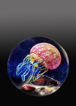 Gold Ruby Side Swimmer Seascape Jellyfish