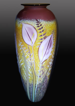 Lavendar Lily on Meadow Vase