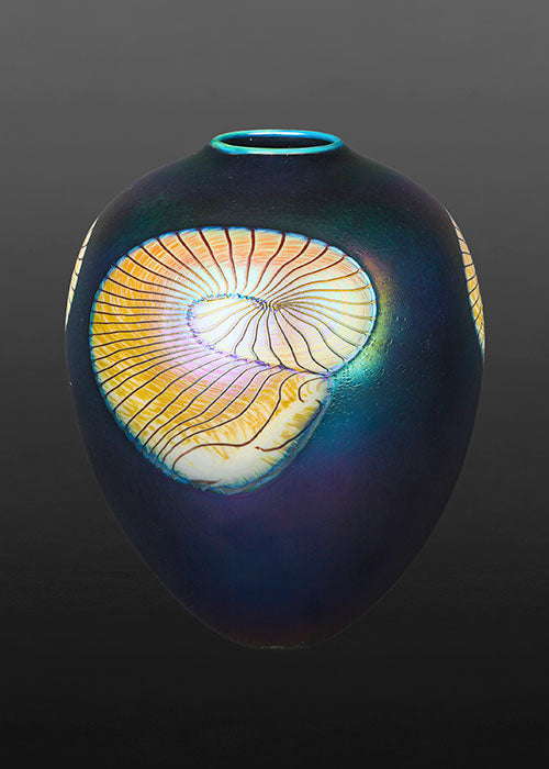 Nautilus Fumed Black Vase