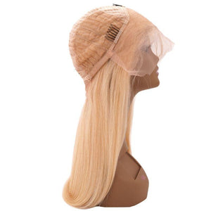 Russian Blonde Straight Lace Wig