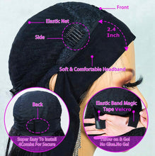 Load image into Gallery viewer, Get up n Go Straight Headband Wigs